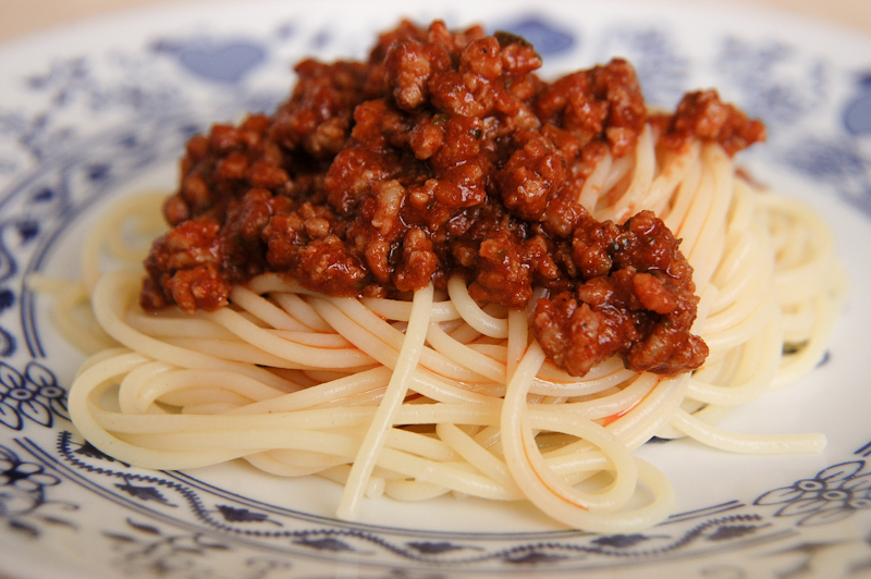 Špagety s mletým mäsom