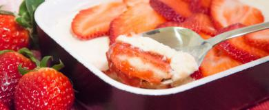 Jahodový dezert s mascarpone