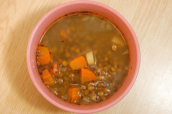 Slovenská šošovicová polievka
